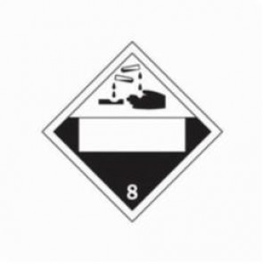 Brady® 60403 DOT Vehicle Placard, 10-3/4 in L x 10-3/4 in W, White Background, Black Legend, B-101 Polycoated Tagstock