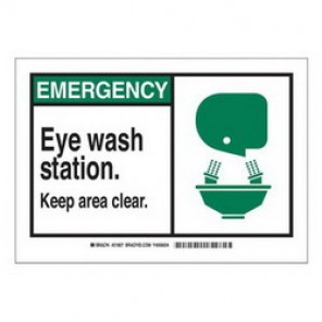 Brady® 62557 First Aid Sign, 7 in H x 10 in W, Green/Black on White, Surface Mount, B-120 Premium Fiberglass