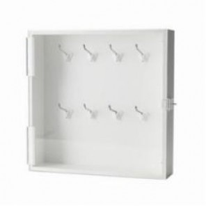Brady® 65240 Enclosed Small Padlock Storage Module, 16 Locks, 15 in H x 15 in W x 3-1/2 in D, Sintra with Acrylic Door