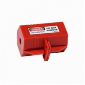 Brady® 65674 Small Electrical Plug Lockout, 2 in H x 3-1/2 in W x 2 in D, Red, 1/2 in Max Dia Padlock Shackle