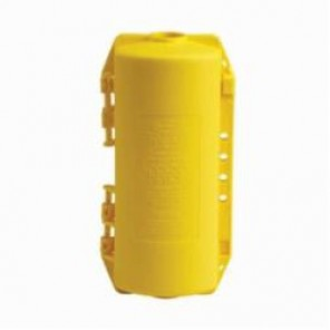 Brady® 65968 Large Electrical Plug Lockout, 10-3/20 in H x 4-1/2 in W, Yellow, 9/16 in Max Dia Padlock Shackle