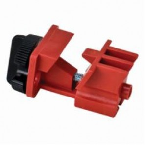 Brady® 66321 Multi-Pole Universal Circuit Breaker Lockout, 120/277 VAC, Red, Impact-Modified Nylon, 9/32 in Max Dia Padlock Shackle, For Use With Most Multi-Pole Breakers with a Tie Bar