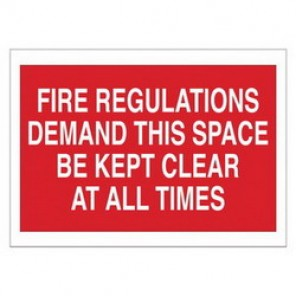 Brady® 69074 Fire Safety Sign, 14 in H x 10 in W, White on Red, Surface Mount, B-120 Premium Fiberglass