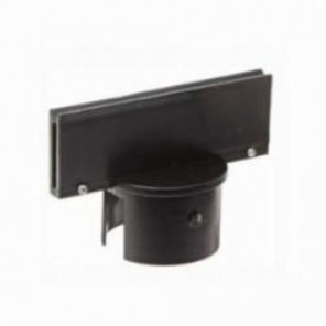 Brady® 80960 Small Post Sign Adapter, 1-3/4 in H x 5 in W, For Use With General Equipment, Polyethylene, Black