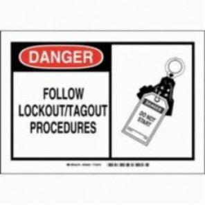 Brady® 83902 Security Sign, 3-1/2 in H x 5 in W, Black/Red on White, B-302 Polyester