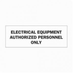 Brady® 84963 Laminated Rectangle Electrical Hazard Sign, 3-1/2 in H x 10 in W, Black on White, Self-Adhesive/Surface Mount, B-302 Polyester