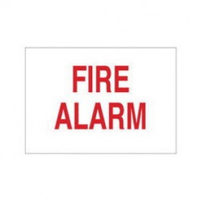 Brady® 85243 Fire Sign, 7 in H x 10 in W, Red on White, Surface Mount, B-302 Polyester