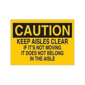 Brady® 85582 Maintenance Sign, 7 in H x 10 in W, Black on Yellow, Surface Mount, B-302 Polyester