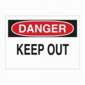 Brady® 87759 Laminated Rectangle Electrical Hazard Sign, 3-1/2 in H x 5 in W, Black/Red on White, Self-Adhesive/Surface Mount, B-302 Polyester