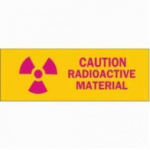 Brady® 89112 Rectangle Radiation & Laser Sign, 2-1/4 in H x 2-1/4 in W, Pink on Yellow, Surface Mount, B-302 Polyester
