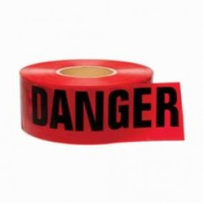 Brady® 91201 Lightweight Barricade Tape, DANGER, 3 in W x 1000 ft L, Red/Black, Polyethylene