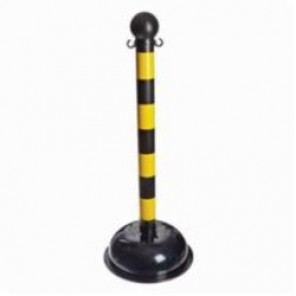 Brady® 92122 Bradylink® Large Striped Warning Post With C-Hook, 3 in Dia x 41 in H, Non-Reflective Polystyrene Post