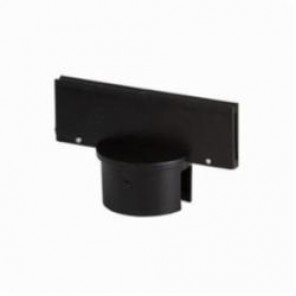 Brady® 92135 Large Post Sign Adapter, 2 in H x 6 in W, For Use With General Equipment, Polyethylene, Black