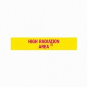 Brady® 93629 Rectangle Radiation Hazard Sign, 1-11/16 in H x 8 in W, Magenta on Yellow, Polycarbonate
