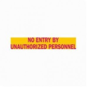 Brady® 93631 Rectangle Radiation Hazard Sign, 1-11/16 in H x 8 in W, Magenta on Yellow, Polycarbonate