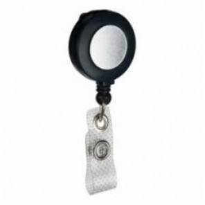 Brady® 95075 Retractable Badge Holder, Heavy Duty Nylon, Black