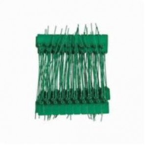 Brady® 95144 General Purpose Pull Tight Seal, 9 in L, Plastic, Green, SEALED DO NOT REMOVE