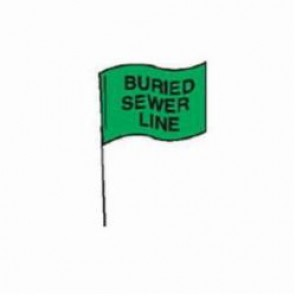 Brady® 98165 Marking Flag With 30 in Steel Rod, 4 in H x 5 in W, Black on Green, Plastic