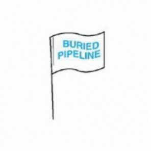 Brady® 98170 Marking Flag With 30 in Steel Rod, 4 in H x 5 in W, Blue on White, Plastic