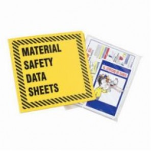 Brady® Prinzing® BR363Y MSDS Binder, Material Safety Data Sheets, English, Black on Yellow, 3 in Ring, 11-5/8 in H
