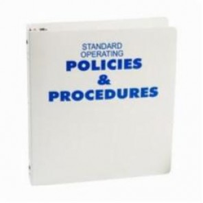 Brady® Prinzing® BR613E Safety Document Binder, STANDARD OPERATING POLICIES & PROCEDURES, English, Blue on White, 1-1/2 in Ring, 11-5/8 in H