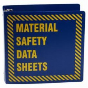 Brady® Prinzing® BR755B MSDS Binder, Material Safety Data Sheets, English, Yellow on Blue, 3 in Ring, 11-5/8 in H