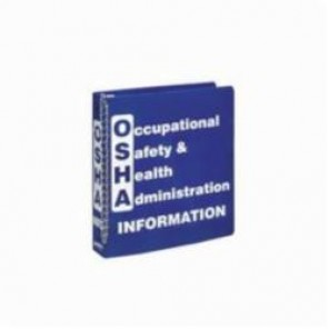Brady® Prinzing® BR806E OSHA INFO Binder, Occupational Safety & Health Administration INFORMATION, English, White on Blue, 1-1/2 in Ring, 11-5/8 in H
