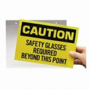 Brady® Prinzing® SH710 Sign Holder, 13.35 in L x 10 in W x 7 in H, Acrylic Glass, Clear