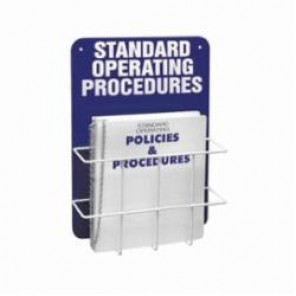 Brady® Prinzing® SM681A Heavy Duty Standard Operation Procedure Center, STANDARD OPERATING PROCEDURES, English, White on Blue, 20 in H x 14 in W