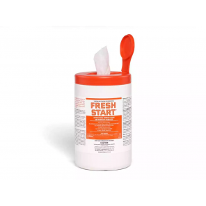 "Fresh Start® 6"" x 8"" Disinfecting Wipes, 300 Sheets/Roll with 1 Gallon Bucket Dispenser, Effective Against COVID-19"