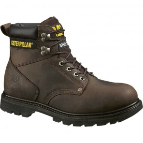 Men's Cat Second Shift Steel-Toe Work Boot