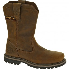 Men's Cat Wellston Wellington Steel-Toe Work Boot