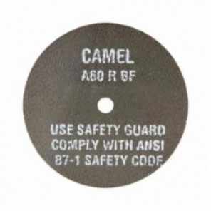 CGW® 35501 Type 1 Straight Cut-Off Wheel, 3 in Dia x 1/32 in THK, 3/8 in, 60R Grit, Aluminum Oxide Abrasive