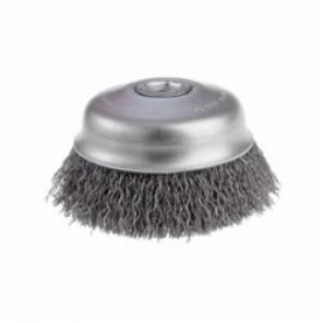 CGW® 49648 Fast Cut Cup Brush, 2-3/4 in Dia, 5/8-11, 0.014 mm Carbon Crimped Wire