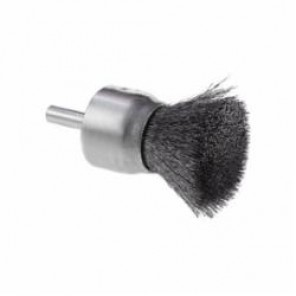 CGW® 60140 Premium End Brush, 3/4 in Dia, 0.0104 mm Carbon Steel Crimped Wire