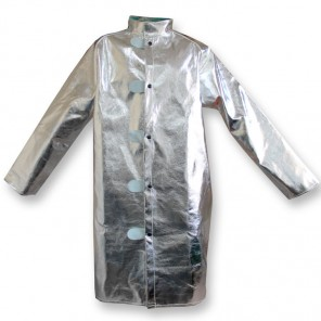 "CPA Chicago Protective Apparel 602-AR Aluminized 45"" Jacket Rayon, Large"