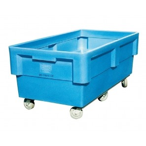 """POLY BOX TRUCKS, Cap. Bu.: 32, Size L x W x H: 76 x 40.5 x 32"""", Caster Size: 6"""""""