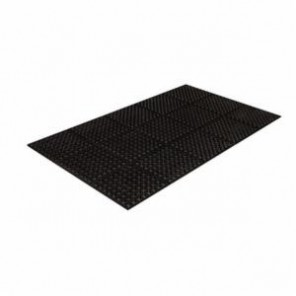 Crown® Safewalk™ WS TF35BK General Purpose Premium Anti-Fatigue Mat, 3 ft W x 5 ft L, 7/8 in THK, Black