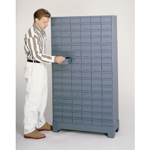 STORAGE CENTER, No. of Drawers: 48, Overall Size W x D x H: 34-1/8 x 12-1/4 x 33-3/4""