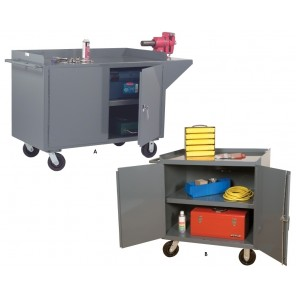 MOBILE CABINETS, Ltr. No.: A, 2-fixed shelf cabinets, Size W x D x H: 60 x 24 x 38""