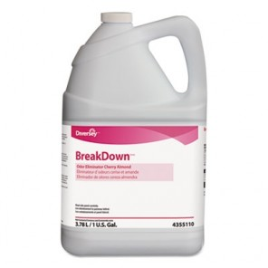 Diversey™ 94355110 Breakdown Odor Eliminator, Cherry Almond Scent, Liquid, 1 gal Bottle, 4/Case