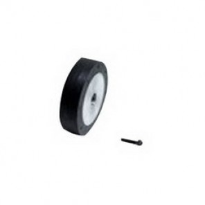 Dynabrade® 11092 Radiused Surface Contact Wheel, 3/8 in ID x 1 in OD x 3/8 in W, 40 Duro Rubber Wheel