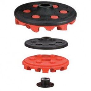 Dynabrade® 92296 Eraser Disc Assembly With M14 x 2 Hub, 4 in Dia