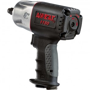 AIRCAT® 1150 Killer Torque 1/2-Inch Twin Hammer Impact Wrench, Black