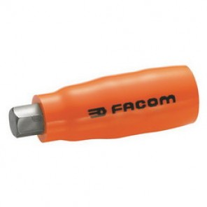 Facom® FM-JT.6AVSE Metric Standard Length Insulated Bit Socket, 6 mm Bit, 3/8 in Square Drive, 25/64 in Bit Length