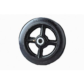 "HI-CAP RUBBER MOLD-ON / CAST IRON WHEELS, Size: 4 x 1 1/2"", Cap. (lbs.): 400, Hub: 1-11/16"", Bore: 1/2"""