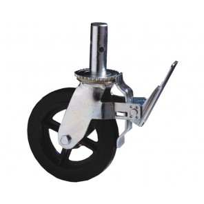 "SCAFFOLD CASTER, Cap. (lbs.): 500, Wheel: 8"" Mold-on, Stem: 1-3/8"""