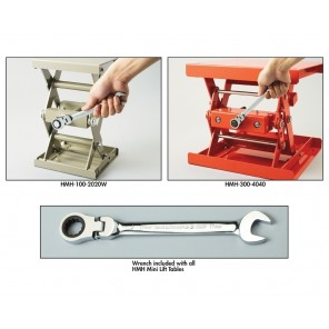 """MH MINI TABLE LIFT, Load Cap. (lbs.): 221, Raised Height: 12.9"""", Lowered Height: 4"""", Table Size W x L: 7.9 x 7.9"""""""