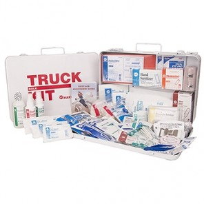 Hart 2015 ANSI Truck First Aid Kit, Class B, bulk fill, Large, metal box