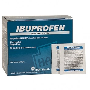IBUPROFEN PAIN RELIEVER, HART INDUSTRIAL PACK, 50/2'S BOX  5651